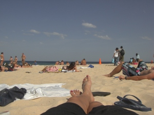 a praia do meu ponto de vista